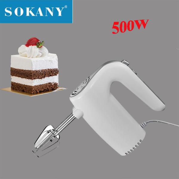 Máy đánh trứng trộn bột làm kem cầm tay SOKANY 500W 5 tốc độ - Máy đánh trứng cầm tay 500W bảo hành 12 tháng
