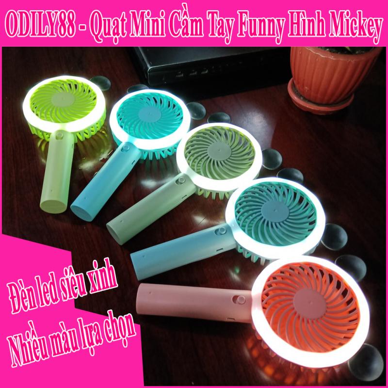 Quạt cầm tay Funny có đèn led  Quạt mini cầm tay Funny F-666 nhiều màu
