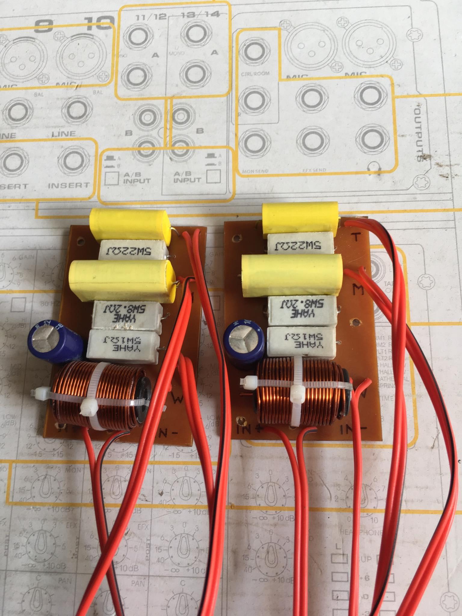 Bộ 2 mạch phân tần 3way (bas+mid+trep) cho loa vừa và nhỏ