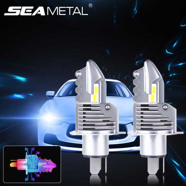 2 Bóng Đèn Pha LED 12V 24V 80W 12000LM H4 9003 HB2 Đèn Điốt H4 Cho Xe Ô Tô Đèn Chip Chiếu Xa Chùm Cao Cấp Thương Hiệu