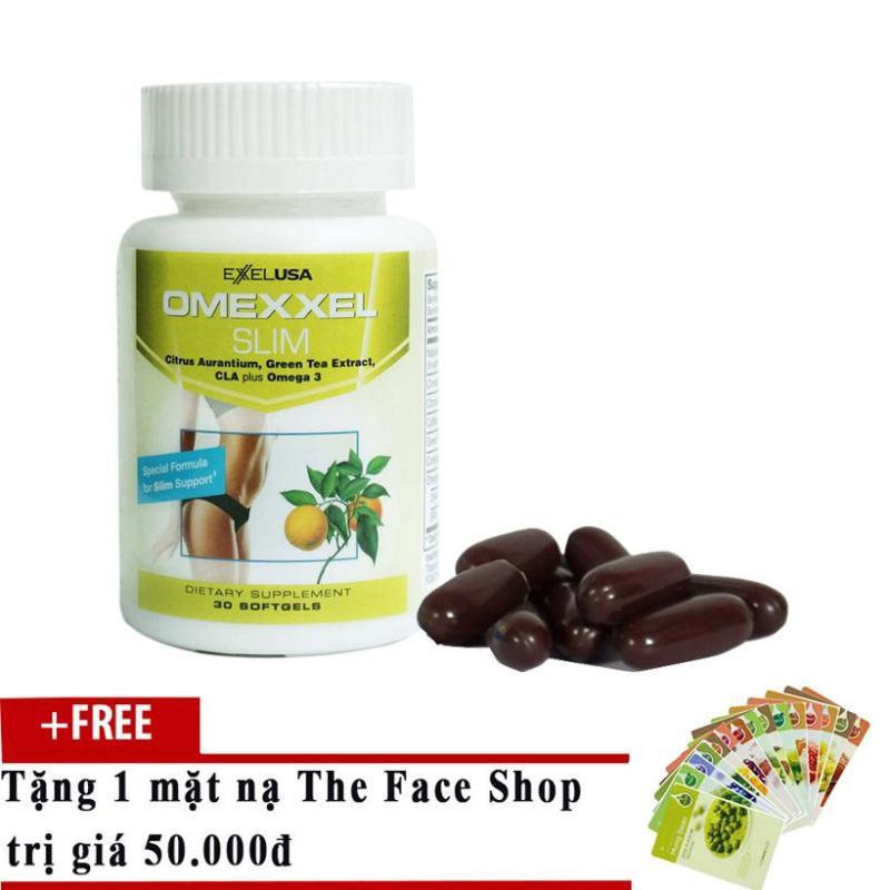 Viên Uống Giảm Cân An Toàn Omexxel Slim (Hộp 30V) - Xuất Xứ Mỹ + Tặng mặt nạ dưỡng da cao cấp