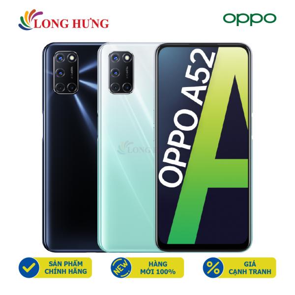 [Trả góp 0%]Điện thoại Oppo A52 (6GB/128GB) - Hàng chính hãng - Màn hình 6.5inch FHD+ Bộ 4 camera sau Pin 5000mAh cảm biến vân tay trên nút nguồn