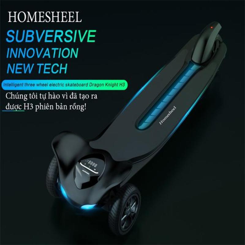 Giá bán Ván điện cân bằng homesheel rồng đêm H3, skateboard homesheel h3 - USA- bảo hành 2 năm - ĐEN