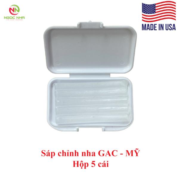 Sáp chỉnh nha giúp giảm đau GAC của hãng Dentsply Sirona – Mỹ, hộp 5 thanh màu trong