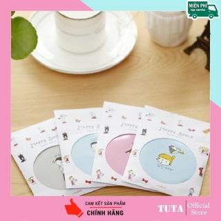 TUTA - Gương cầm tay bỏ túi Hàn Quốc mini siêu cute viền kim loại gương mini GM-G thumbnail