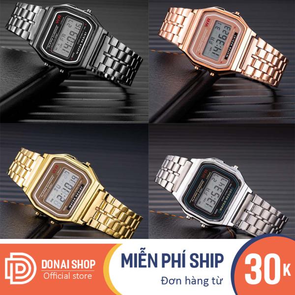 Nơi bán Đồng hồ điện tử nam nữ điện tử chống nước full chức năng có đèn, dây hợp kim dễ điều chỉnh dùng đi học hoặc đi chơi, đồng hồ dùng cho cặp đôi W204.DONAI