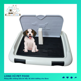 Khay vệ sinh cho chó có cọc và tường chắn để đi vệ sinh đúng chỗ hàng cao cấp - DILL Size nhỏ thumbnail