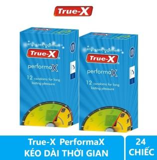 Combo 2 hộp Bao cao su kéo dài thời gian True-X PerformaX hộp 12 chiếc thumbnail