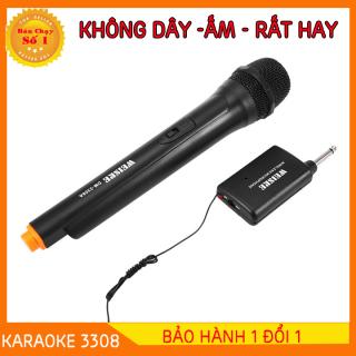 [BẢO HÀNH 1 ĐỔI 1- GIẢM THÊM 8%] micro karaoke bluetooth không dây DM3308 - micro karaoke bluetooth không dây cao cấp - micro karaoke không dây cho amply và loa karaoke - Hỗ trợ các thiết bị có jack cắm 3.5mm và 6.5mm thumbnail