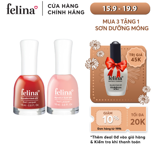 Sơn móng tay Felina thời trang 18ml - Màu Sắc Đa Dạng