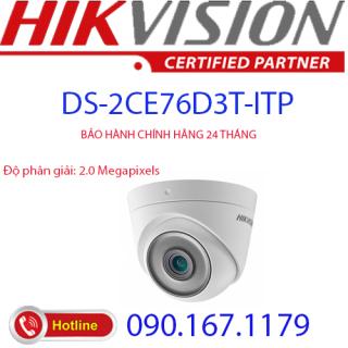 Camera Dome 4 in 1 hồng ngoại 2.0 Megapixel HIKVISION DS-2CE76D3T-ITP thumbnail
