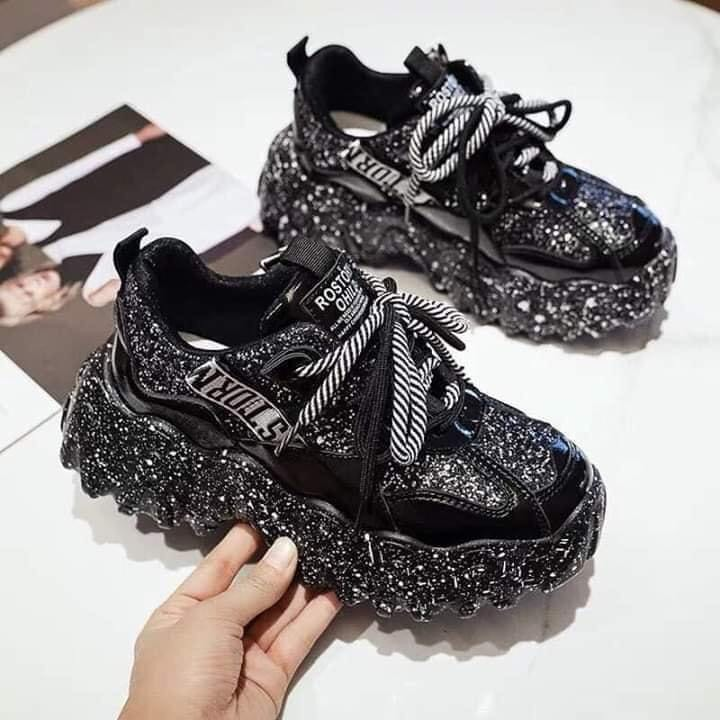 [SIÊU HOT] Giày Thể Thao Nữ  Đẹp Gía Rẻ, Giày Sneaker thể thao nữ PHA KIM TUYẾN giá tốt bền đẹp