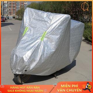 Tấm bạt che xe máy , Bạt phủ xe máy tráng nhôm cao cấp che mưa che nắng cho xe máy , Bạt phủ xe máy 3D , Bạt phủ xe SH với chất liệu tráng nhôm hiện đại giúp cách nhiệt an toàn và mùa nóng thumbnail
