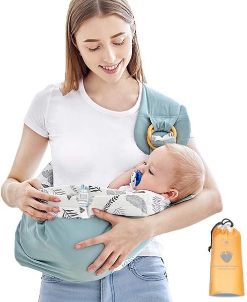 Địu em bé sơ sinh vải chất liệu cotton mềm mại, thoáng khí 5 tư thế phù hợp cho bé từ 0 - 3 tuổi AXT3191