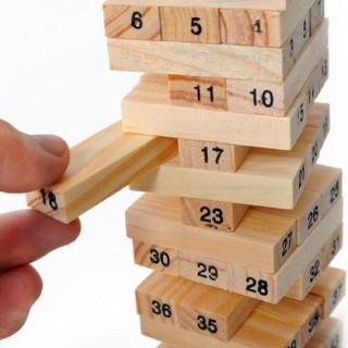 Đồ chơi thông minh cho bé, đồ chơi bằng gỗ tự nhiên, đồ chơi rút gỗ Wiss Toy 54 thanh cho bé trai và bé gái - Tặng Kèm Móc Khóa thumbnail