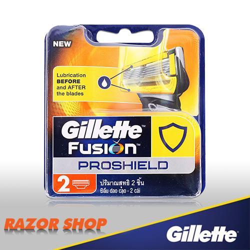 Vỉ 2 lưỡi dao cạo Gillette Fusion 5 + 1 Proshield tốt nhất