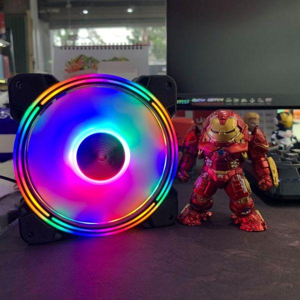 Quạt tản nhiệt Fan Case Led RGB Coolmoon K3 - Hàng Chính Hãng