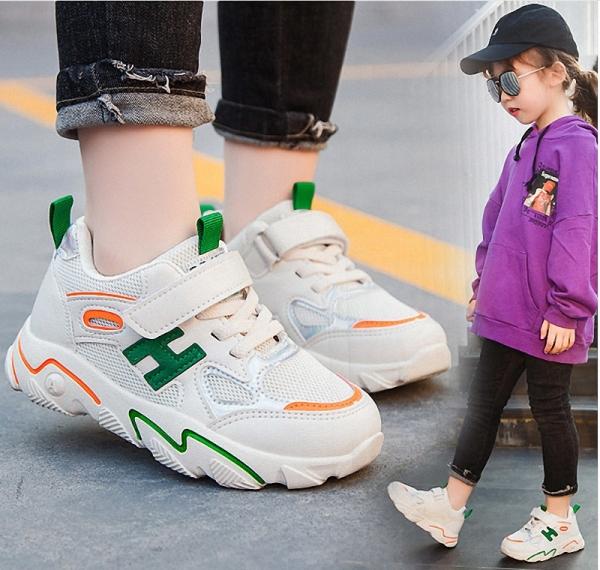 giày thể thao bé gái êm chân size 30- 37 phong cách hè thoáng mát - TT62