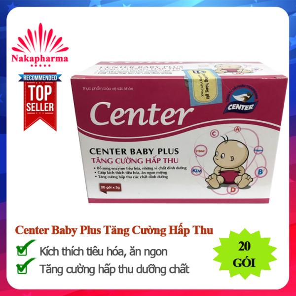 Center Baby Plus Tăng Cường Hấp Thu – Dành cho trẻ ăn uống kém hấp thu, còi xương và suy dinh dưỡng