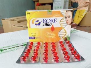 Viên uống đẹp da bổ sung Vitamin E - Kore 4000 sáng mịn da chống lão hóa - Hộp 10 vỉ 100 viên dùng 1 tháng thumbnail