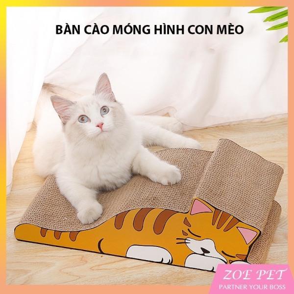 Bàn cào móng cho mèo, hình con mèo, giúp mèo thoải mái nhanh nhẹn