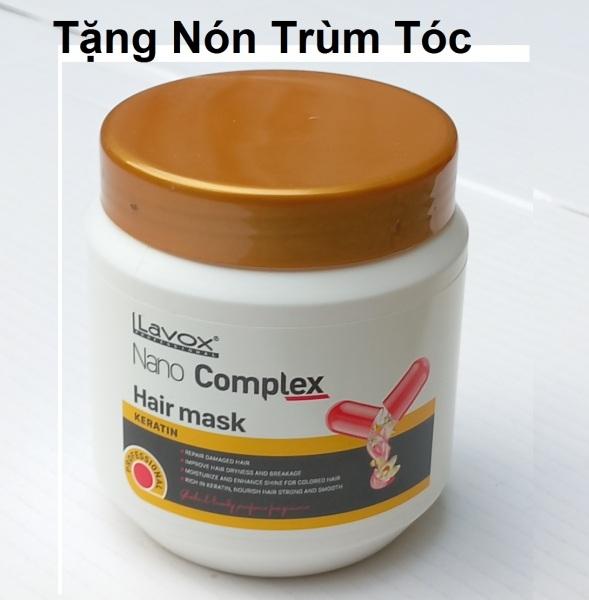 [500ml] kem hấp dầu ủ tóc chuyên nghiệp giàu Keratin nuôi dưỡng tóc chắc khỏe phục hồi tóc hư tổn nặng Lavox Nano Complex Hair mask chống khô xơ, gẫy rụng tặng - nón trùm tóc giá rẻ