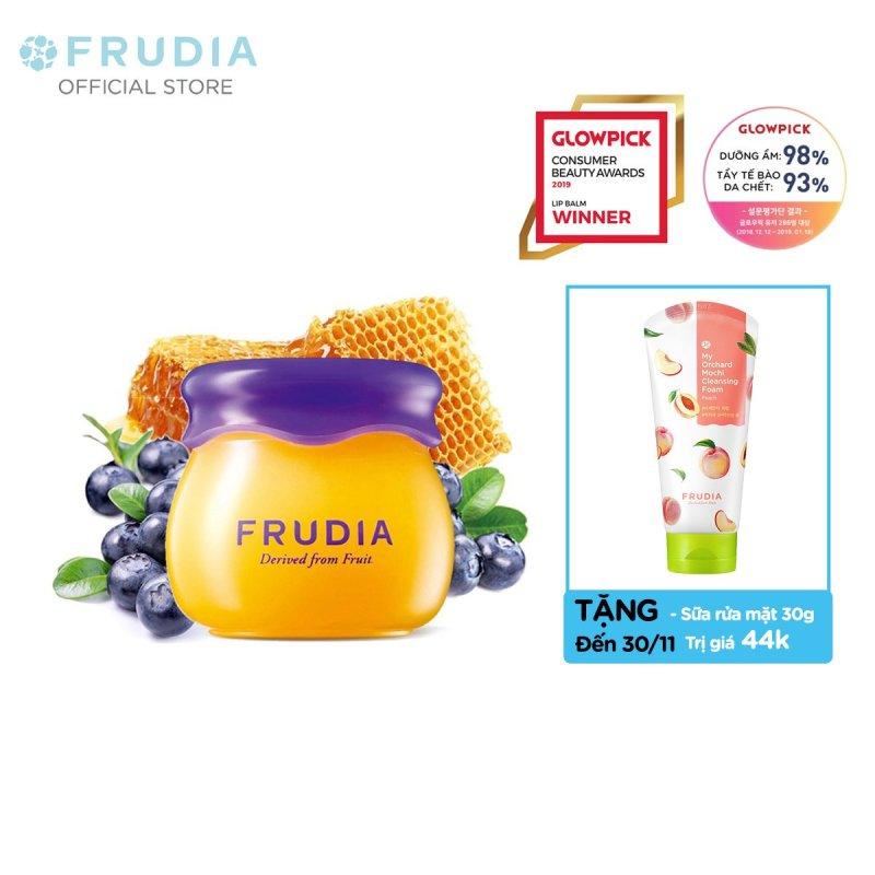 [TẶNG 44K]Son Dưỡng Ẩm Môi Chiết Xuất Việt Quất Frudia Blueberry Hydrating Honey Lip Balm 10g giá rẻ
