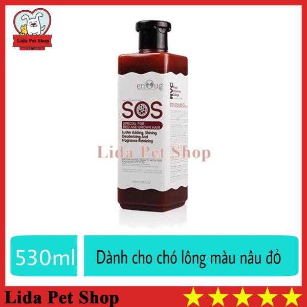 HN- Sữa tắm SOS nâu đỏ dành riêng cho chó lông nâu đỏ - sữa tắm SOS nâu đỏ 530ml