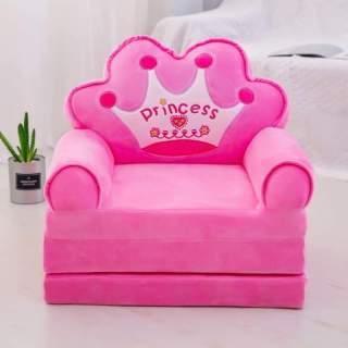 Ghế tập ngồi, ghế ăn dặm, ghế sofa cho bé ba ngăn màu hồng thumbnail