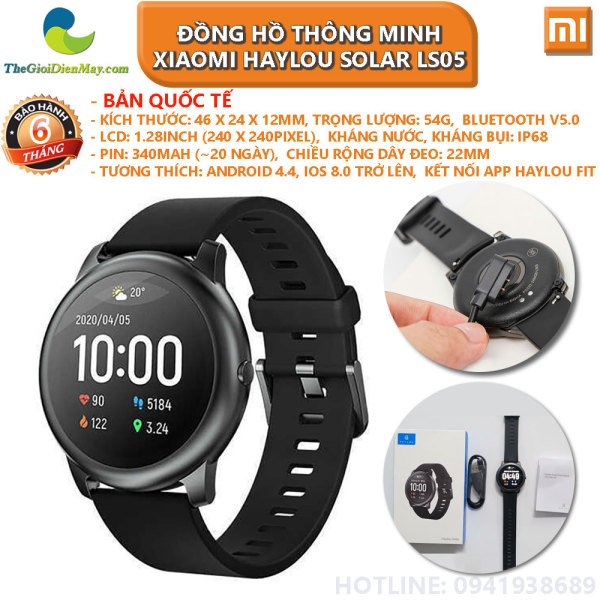 [Bản quốc tế] Đồng hồ thông minh Xiaomi Haylou Solar LS05 - Bảo hành 6 tháng - Shop Thế Giới Điện Máy