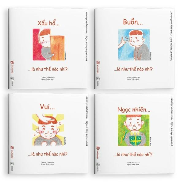Mua Sách Ehon - Combo 4 Cuốn Cảm xúc - Ehon Nhật Bản dành cho bé từ 0 - 6 tuổi
