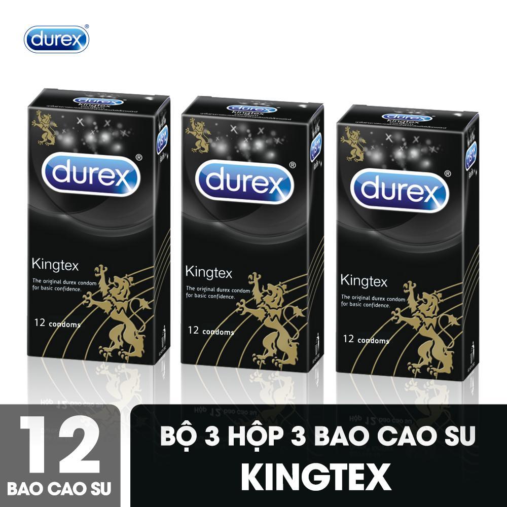 Bộ Bao Cao Su Durex Kingtex 3 Hộp 12 Bao Ôm Khít nhập khẩu