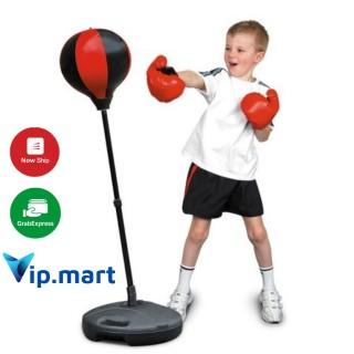 Bộ Đồ Chơi Đấm Bốc Cho Bé Boxing Set (có găng tay, trụ đỡ, giá đỡ) thumbnail
