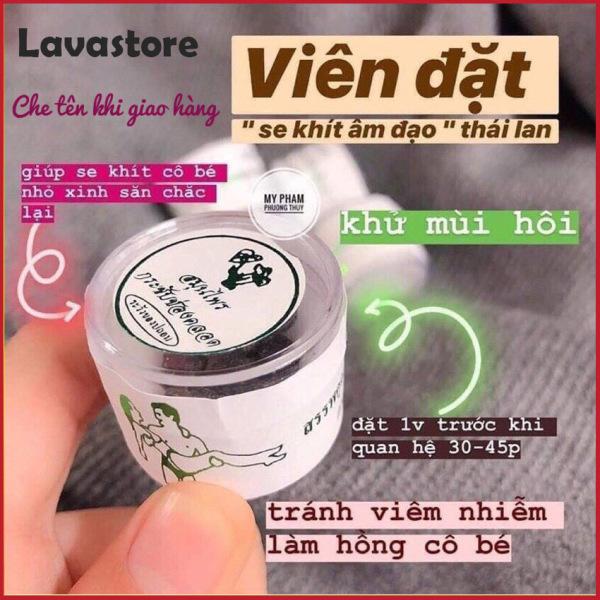 [XÁCH TAY THÁI LAN] Viên Đặt Se Khít Âm Đạo Thái Lan Hũ 10 Viên, Hiệu quả sau 3 ngày sử dụng, che tên khi giao hang-Lavastore
