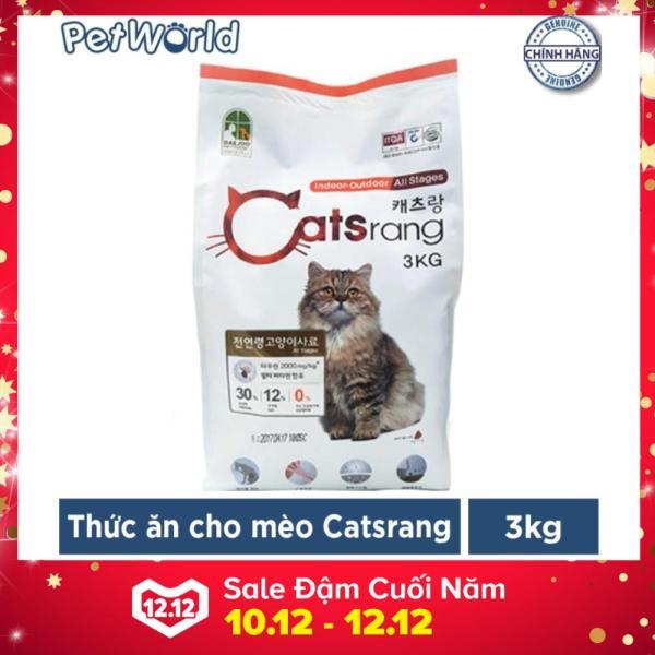 Thức ăn hạt cho mèo mọi lứa tuổi Catsrang 3kg (Nhập khẩu Hàn Quốc)