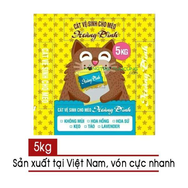 Cát vệ sinh mèo Hoàng Đình 5kg Không Mùi - [Bách Hoá Mẹ Hương]