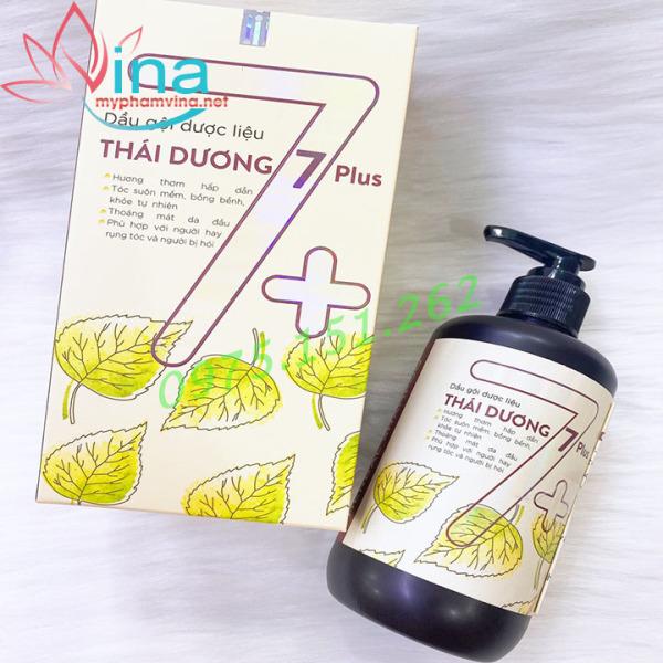 Dầu gội dược liệu Thái Dương 7 Plus - Phù hợp với người rụng tóc nhiều, người bị hói - Chai 250ml