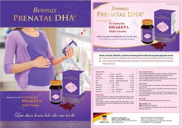 BENMAX PRENATAL DHA+ (1 HỘP 30 VIÊN)