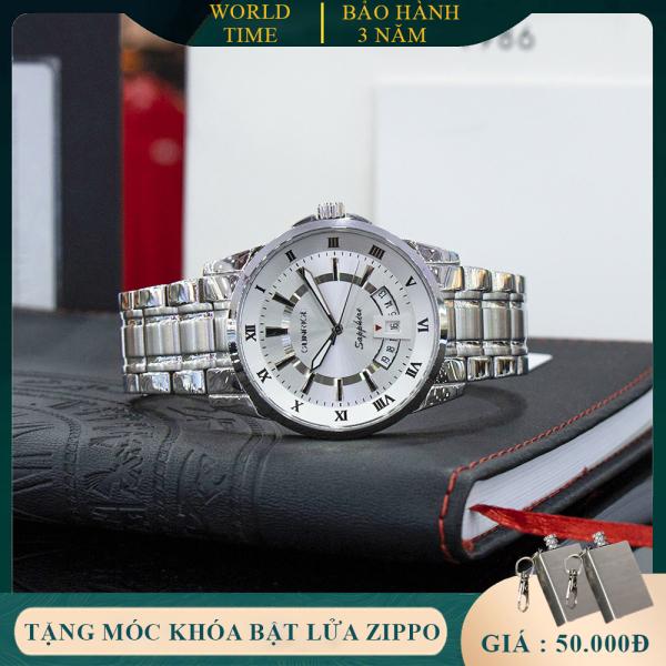 Đồng Hồ Nam Sunrise DM771SWA Full Box, Kính Sapphire Chống Xước , Chống Nước, Dây kim loại 316L, Bảo hành toàn quốc 3 năm
