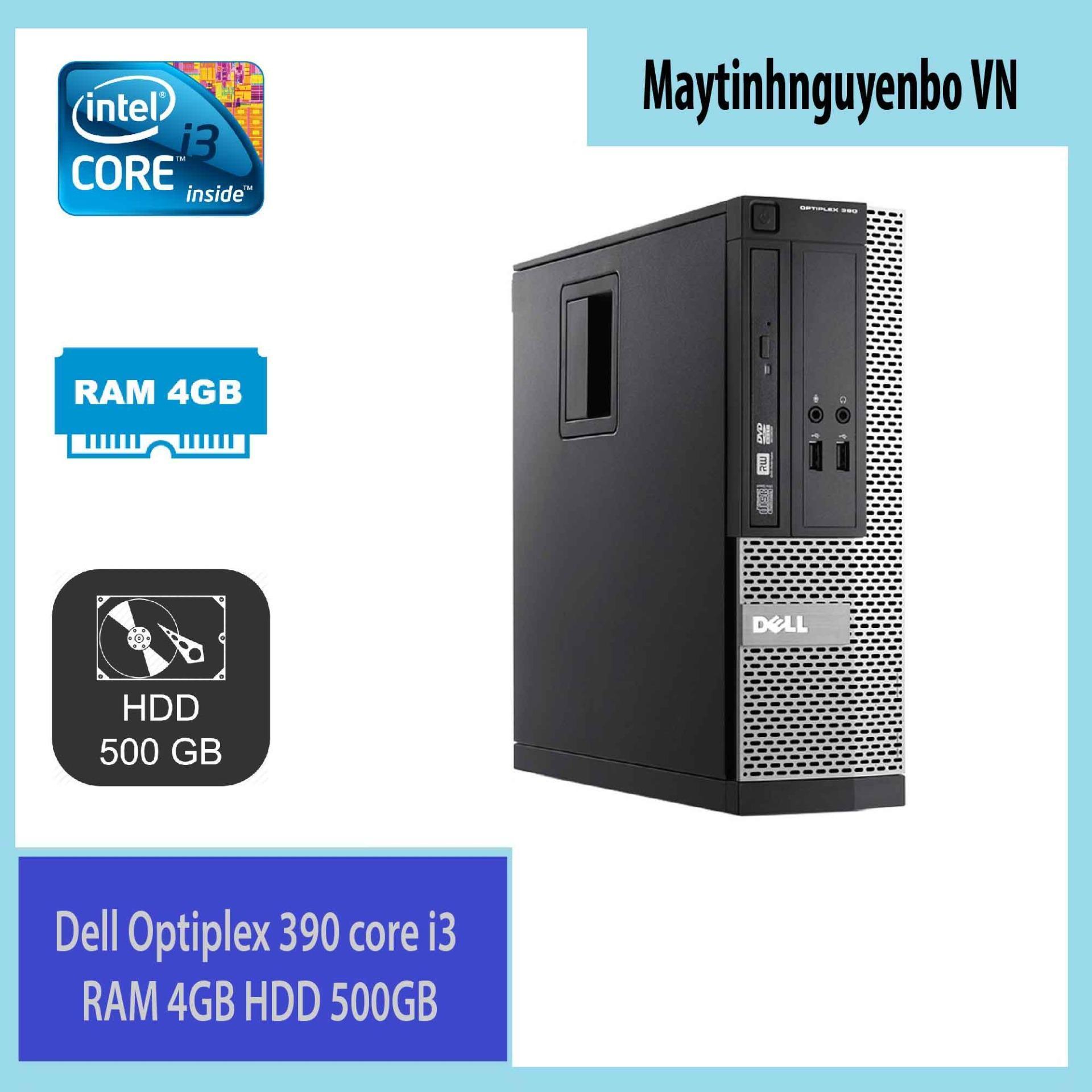 Máy tính đồng bộ Dell Optiplex 390 core i3 RAM 4GB HDD 500GB - Hàng Nhập Khẩu