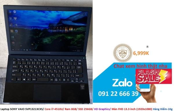 Bảng giá Laptop SONY VAIO SVP13213CXS/ Core i7-4510U/ Ram 8GB/ SSD 256GB/ HD Graphics/ Màn FHD 13.3 inch (1920x1080) Hàng Hiếm-1Kg Phong Vũ