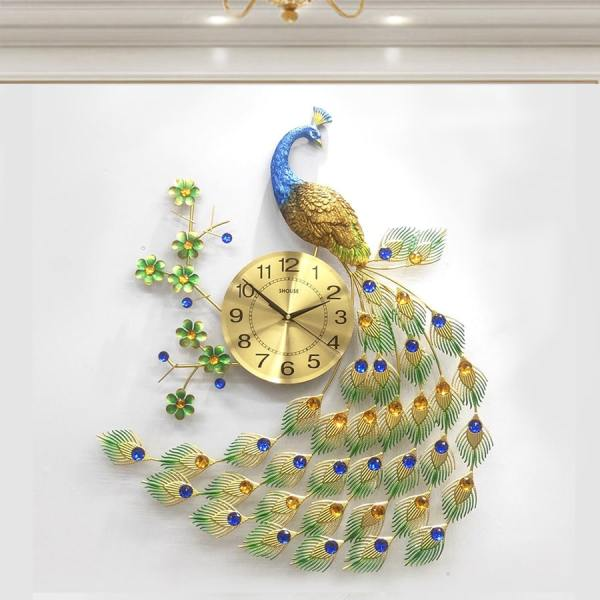 Đồng hồ treo tường con chim công A68 thương hiệu Việt Nam chính hãng kim trôi hiện đại cao cấp nghệ thuật không gây tiếng động SEENSI bán chạy