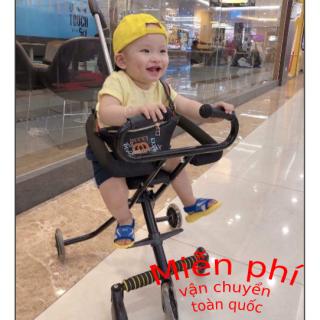 Xe Đẩy Du Lịch - xe đẩy trẻ em - xe đẩy siêu thị - 5 Bánh Gấp Gọn, loại Bánh Xe Có Đèn thumbnail