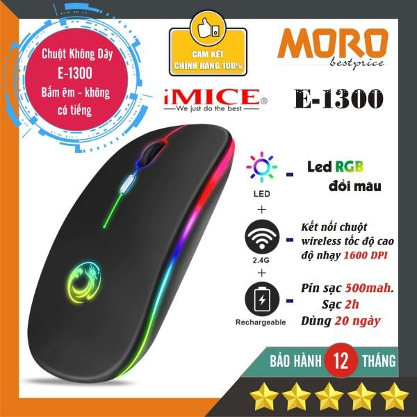 Chuột không dây Pin sạc Imice E1300 - 1600 Dpi  - Led RGB đổi màu - Bảo hành 1 năm!