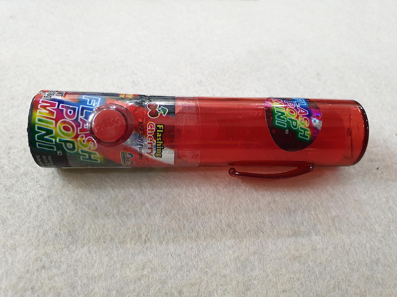 [Siêu hot] Kẹo Son Flash Pop Mini ( có đèn phát sáng ) vị Cherry  loại 18g ( Mẫu mới  - Nội địa USA- Xách tay Mỹ - HSD : 10/2020)