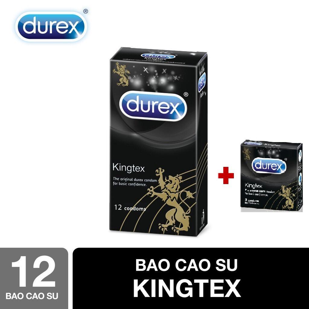 MUA 1 TẶNG 1 Bao cao su Durex Kingtex 12 bao tặng 1 hộp cùng loại 3 bao ( CHE TÊN SP KHI GIAO HÀNG ) nhập khẩu