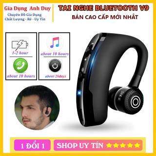Tai nghe Vitog Bluetooth V9 cao cấp màu đen sang trọng - thể thao thế hệ mới 5.0 Pin trâu bass chuẩn thumbnail