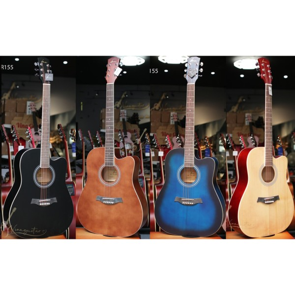 Đàn Guitar Acoustic Gỗ Thịt VG-Tr155 - Tặng 12 Phụ Kiện-Nhạc Cụ 3Số Phân Phối Chính Hãng