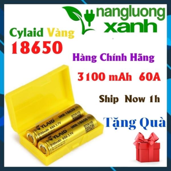 Pin Cylaid Vàng 18650 Cell pin dung lượng cao pin sạc  💖 FREESHIP 💖 CHÍNH HÃNG 3100 mAh Xả Lớn 60A