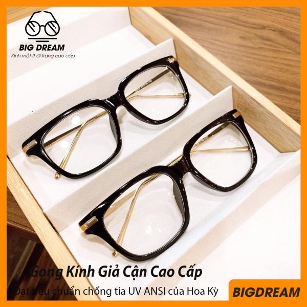 Giá bán Kính cận không độ gọng kim loại mảnh cao cấp BD5510 - Gọng kính giả cận Hàn Quốc- Bảo hành 12 tháng 1 đổi 1 - Tặng kèm hộp đựng + Khăn lau